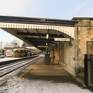 Stroud railway station in the snow by Jeff  Wilson