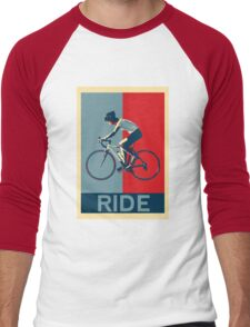 Ride - perfect for bicyclists and cyclists and those who love bikes Men's Baseball ¾ T-Shirt