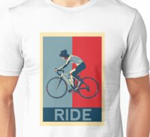 Ride - perfect for bicyclists and cyclists and those who love bikes Unisex T-Shirt