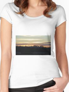 Sunset Over Lincolnshire Women's Fitted Scoop T-Shirt