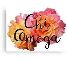 Chi Omega Rose Canvas Print