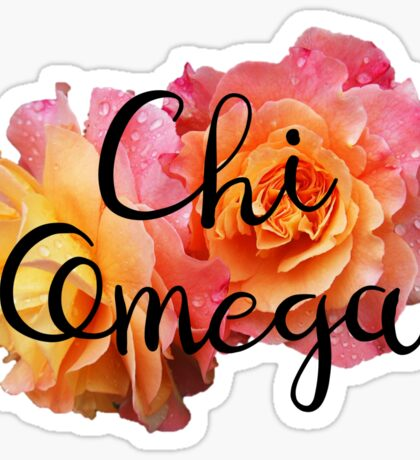 Chi Omega Rose Sticker