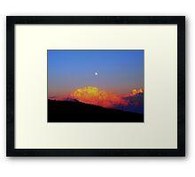Morning Moon Framed Print