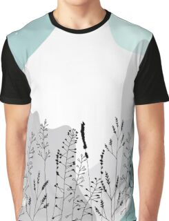 Meadow wild flowers, grasses and plants. Graphic T-Shirt
