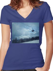 Family Cableway Women's Fitted V-Neck T-Shirt