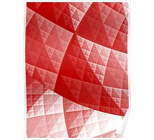 Red abstract pattern Poster