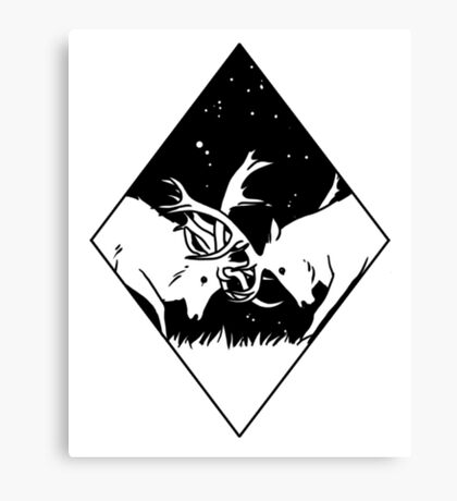 Deer clash Canvas Print