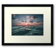 Beautiful Rays Framed Print