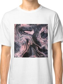 Stylish rose gold abstract marbleized design Classic T-Shirt