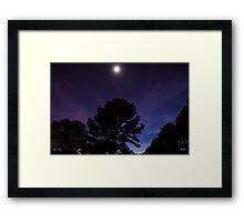 Purple Moon Framed Print
