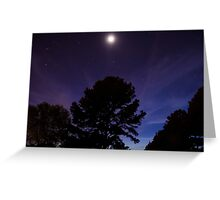 Purple Moon Greeting Card