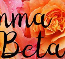 Gamma Phi Beta Gphi, rose Sticker