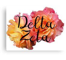 Delta Zeta DZ rose Canvas Print