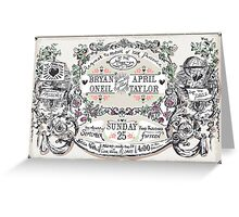 Wedding Invitation Labels and Banners Greeting Card