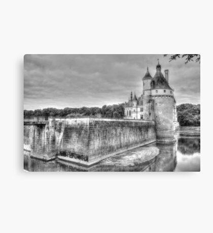 Chateau De Chenonceau, France (Black & White)  Canvas Print