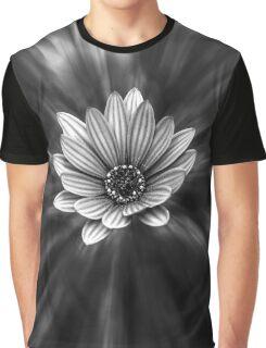 Black & White Flower Graphic T-Shirt