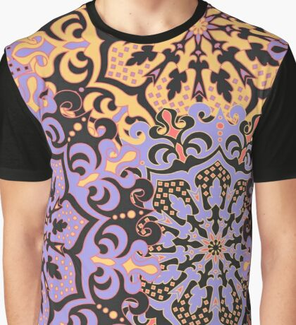 Colorful seamless pattern with symmetrical mandalas Graphic T-Shirt