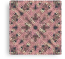 Web in pink and brown Canvas Print