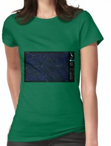 USGS TOPO Map California CA Beegum 295877 1981 25000 geo Inverted Womens Fitted T-Shirt