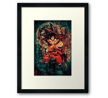 Kid Goku Framed Print