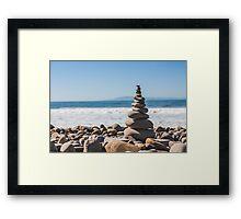 Sea Rocks Framed Print