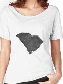 South Carolina Map Canvas, Art Print,South Carolina Skyline Home Decor, Wall Map Decor,South Carolina Wall Art Decor, Poster Watercolor Women's Relaxed Fit T-Shirt