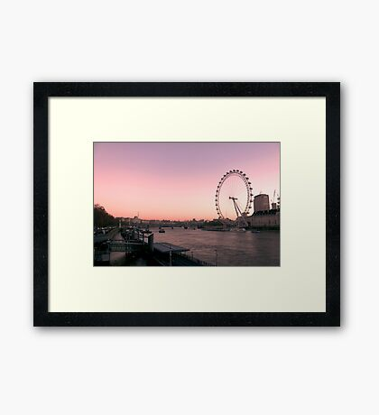 London Eye, Sunrise, London Framed Print