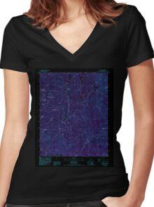 USGS TOPO Map California CA Tobias Peak 102033 1986 24000 geo Inverted Women's Fitted V-Neck T-Shirt