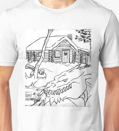 A Dragon's Winter Home in Vermont Unisex T-Shirt