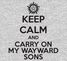 KEEP CALM - Carry On My Wayward Sons // Supernatural Kids Clothes