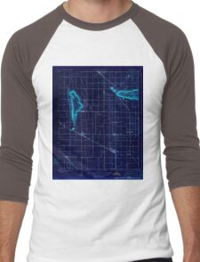 USGS TOPO Map California CA Sultana 296535 1923 31680 geo Inverted Men's Baseball ¾ T-Shirt