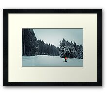 kid ski Framed Print