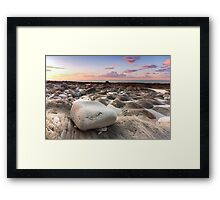 Colourful sunset at Westward Ho! beach Framed Print