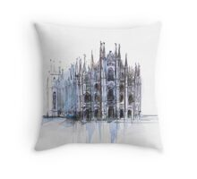 Duomo di Milano. Milan Cathedral. Throw Pillow