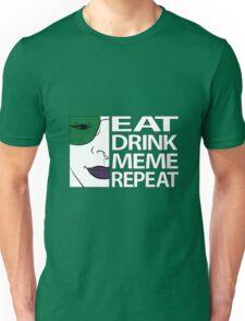 Brydie Eats Sleep Meme Repeat - Colour Borderless Unisex T-Shirt