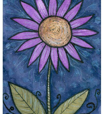 Purple Flower Power Sticker