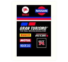 Nissan Retro Racesuit Design Art Print