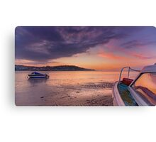 'Sunset Rose' on Instow beach Canvas Print