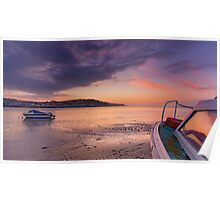'Sunset Rose' on Instow beach Poster