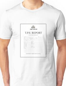TPS report cover sheet initech Unisex T-Shirt