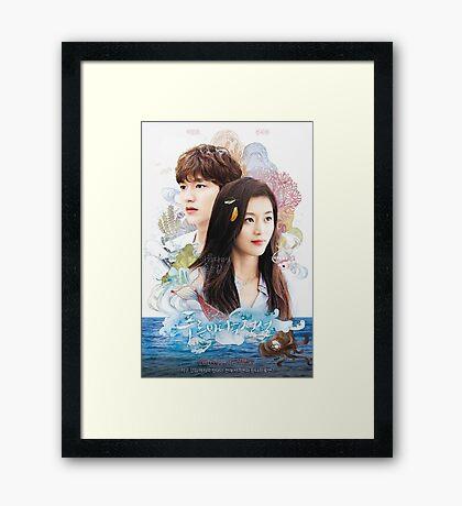 Legend of the blue sea Lee Min Ho & Jun Ji Hyun Framed Print