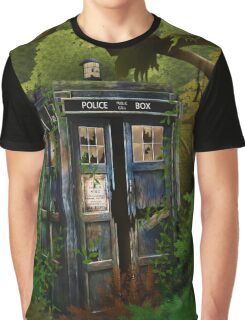 Abandoned time and space traveller Blue Phone Box Graphic T-Shirt