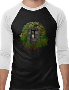 Abandoned time and space traveller Blue Phone Box Men's Baseball ¾ T-Shirt
