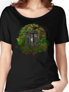 Abandoned time and space traveller Blue Phone Box Women's Relaxed Fit T-Shirt