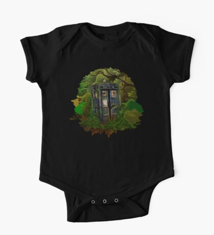 Abandoned time and space traveller Blue Phone Box One Piece - Short Sleeve