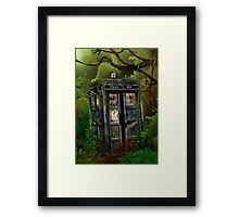 Abandoned time and space traveller Blue Phone Box Framed Print