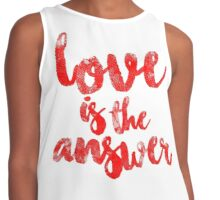 Love Is The Answer Contrast Tank