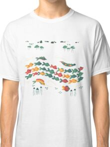 A Stream With Bright Fish Classic T-Shirt