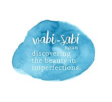 Wabi Sabi Beauty in Imperfections - Blue Watercolor Photographic Print