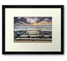 After the storm - Westward Ho! walkway Framed Print